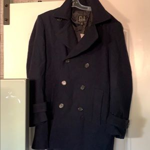 Wool men's Jose. A. Banks pea coat- med
